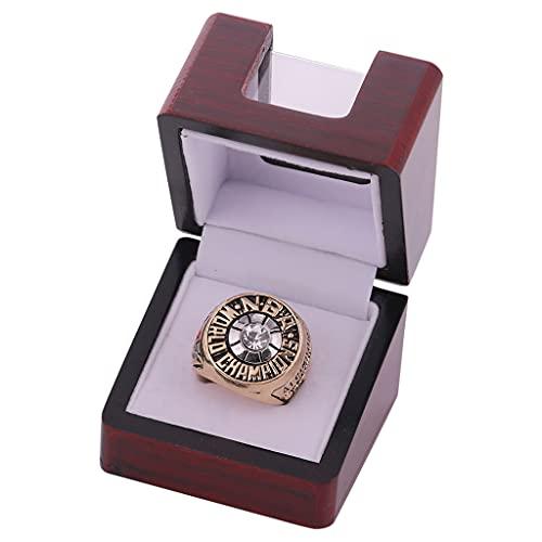 Fei Fei 1971 NBA Milwaukee Bucks Championship Ring Anillos de Hombre, Championship Anillo de réplica Personalizado Anillos de Diamantes para Hombres,with Box,11