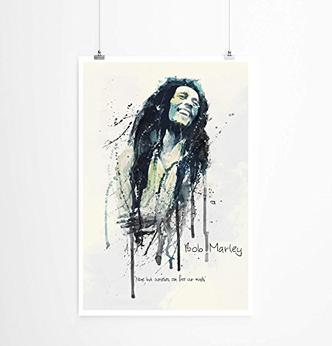 Paul Sinus Art Bob Marley I 90x60cm auf Masterclass Metallic Pearl High Gloss Photo Paper
