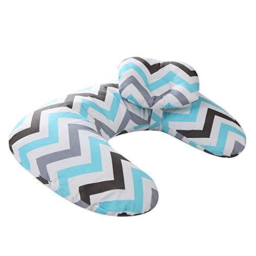 Almohada para bebé embarazada con forma de almohada, con fibra de poliéster 100% algodón que se puede quitar y lavar el relleno de la almohada-color