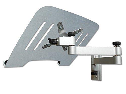 Drall Instruments Laptop Wandhalterung Halterung (TÜV SÜD-geprüft) Silber mit Notebook Adapterplatte Ablage Silber Modell: L52S-IP3S