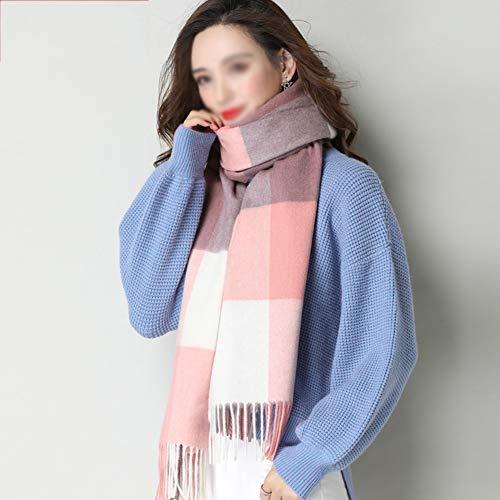BNXTF sjaal, winterlange zachte warme Schotse ruiten sjaal wraps voor vrouwen wol kwast sjaal lange verpakking