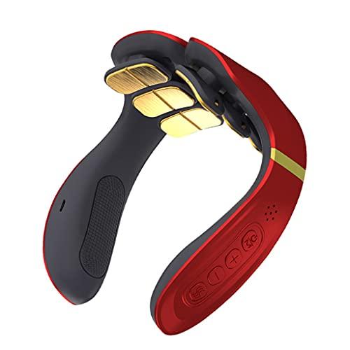oshhni Masajeador de cuello de pulso eléctrico compacto de 1 pieza, masaje termostático temporizado por calor para uso lumbar en el hogar, oficina al aire - Magnético