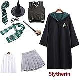 Los niños Adultos Potter Magia Vestido de Disfraz en Forma de Manto suéter Vestido de Varita Ravenclaw Gryffindor Hufflepuff Disfraz de Slytherin