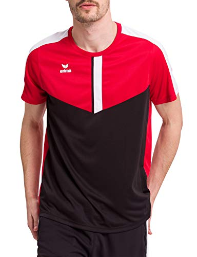 Erima Herren Squad Funktions T-Shirt, rot/schwarz/weiß, XXL