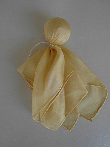 Seidenpüppchen Träumerle, Farbe gelb, Köpfchen mit Biowolle gefüllt