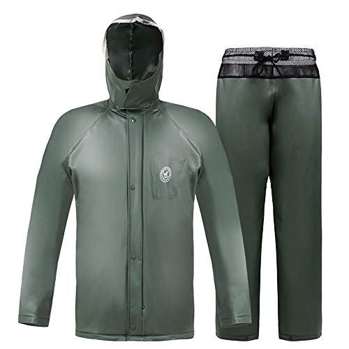 AINUO Pantalones Impermeables de la Lluvia fijaron el Impermeable de la Motocicleta del Coche eléctrico Hombres Adultos para Llevar Poncho Impermeable del Montar a Caballo (tamaño : XL)