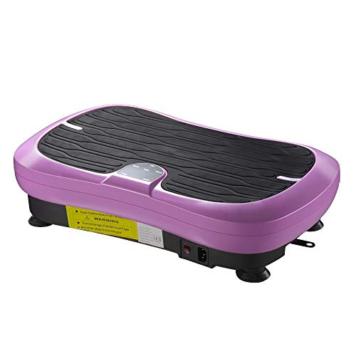 ReaseJoy 500W Vibration Plate Crazy compatible with Massage Exercise Machine Oscillating Platform Pink