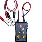 Montloxs Probador de inyector de combustible automático 12 V 4 modos de pulso Sistema de presión de combustible de vehículo de coche Herramienta de prueba de escaneo de diagnóstico Kit herramientas