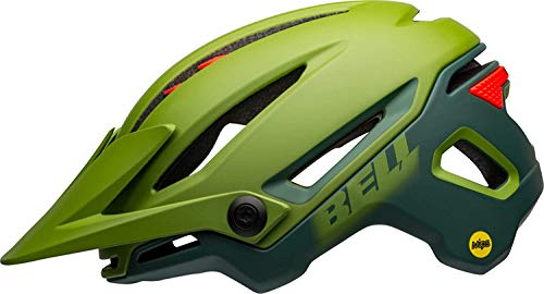 BELL Unisex– Erwachsene Sixer MIPS Fahrradhelm MTB, Matte/Gloss Green/Infrared, M | 55-59cm