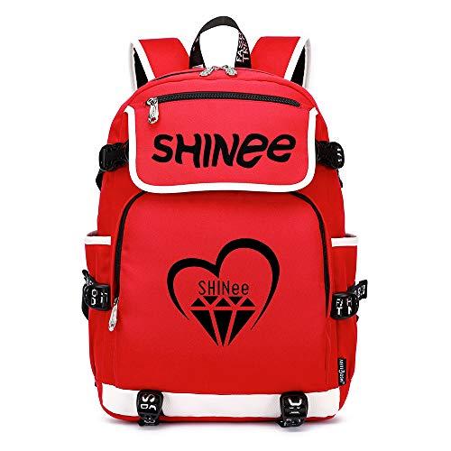 Shinee Rucksäcke Schulranzen Rucksack Daypack Trekkingrucksack Mann und Damenmode Mode Sport Wandern Tasche Wild Style Shinee Backpacks (Color : Red08, Size : 45 X 37 X 16cm)