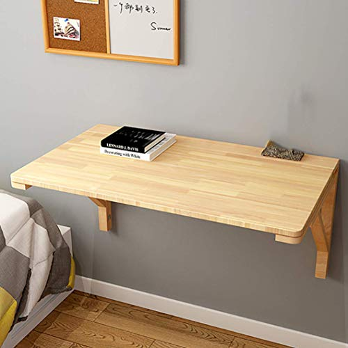 XYSQWZ Wall-Mounted Folding Table,Solid Wood for Office Home Kitchen Industrial Rustic Space Saving Hanging Table