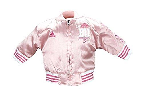 Adidas: cazadora de la NCAA de satén rosa para niñas pequeñas y de uno a dos años con opción de equipo., infantil, 12 Meses, Boston University Terriers