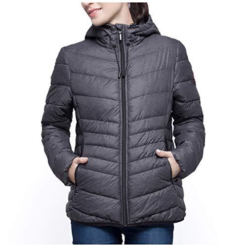 Rokka&Rolla Women's Lightweight Water Resistant Hooded Jacket