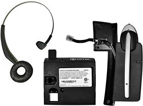 Mitel Cordless (DECT) Headset and Module Bundle | 50005712 - Use with Mitel 5330, 5340 and 5360 Phones | Complete Bundle with All Accessories |