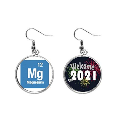 Mg Magnesium Chemical Element chem Ear Pendants Earring Jewelry 2021 Blessing