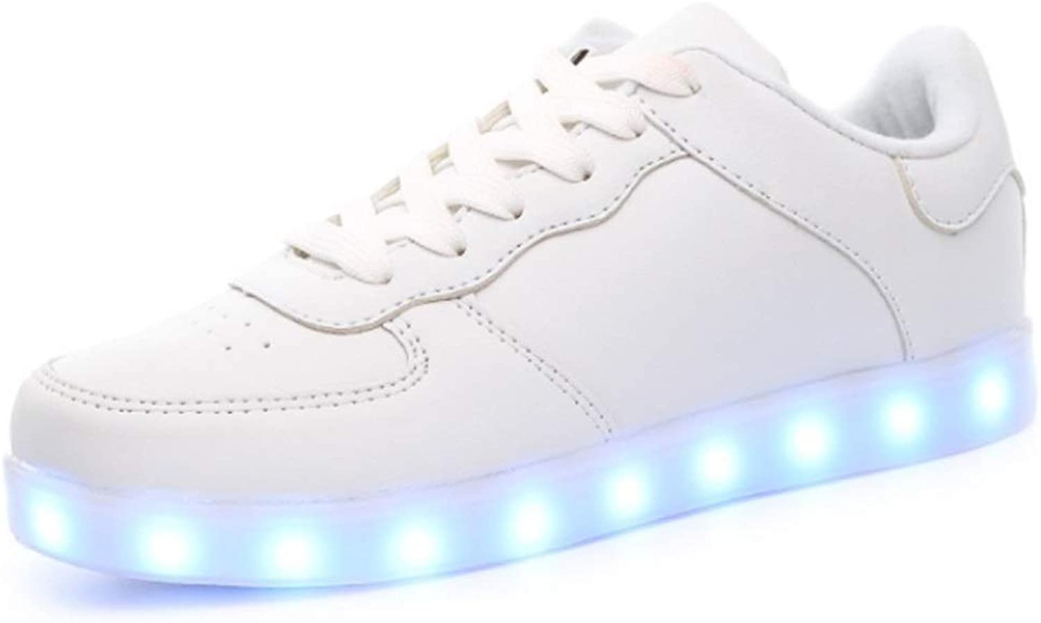 Peng ye LED Lighting shoes USB Charging Couple Students Luminous shoes Casual shoes (color   L, Size   45EU)