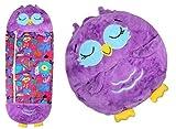 Junqin Saco de Dormir Grande para niños Felices, Saco de Dormir con Almohada de Animales de Dibujos Animados Dos en uno, Adecuado para niños con una Altura de 1 a 1,5 Metros-Owl,||130 * 50cm