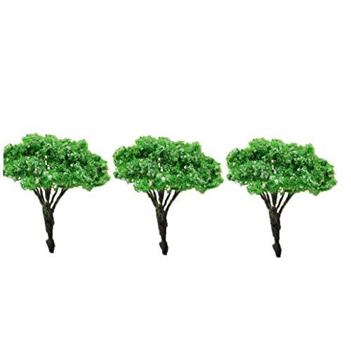 Mini Paysage Architecture de paysage Arbres Modèle miniature Arbres Jardin féerique Arbre Plante Bricolage Artisanat Jardin Ornement de simulation d'arbre blanc Dot 3Pcs