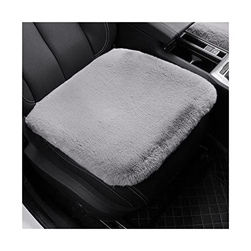 Cojín de Piel de Conejo de Invierno Amortiguador de la Felpa Sin Respaldo Sola Pieza de Lana de Lana de Asiento de Coche de Invierno 1 Pieza Mat (Color Name : Gray Seat Cushion)