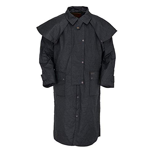 Outback Trading Oilskin Low Rider Duster, Black, Large