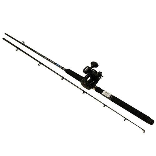 "Okuma CP-DR-762ML-20DXT Great Lakes Trolling Combo, 7'6"" Length, 2 Piece Rod, Medium/Light Action, 2BB Bearings"