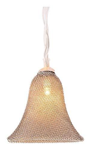 Gift Company kerstboomversiering lichtketting bel 1,6 m metaal Shiny zilver