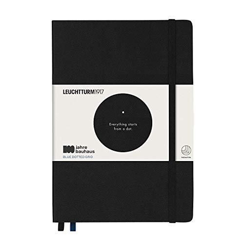 LEUCHTTURM1917 359617 Notizbuch Medium (A5), Hardcover, 251 nummerierte Seiten, schwarz, bauhaus 100