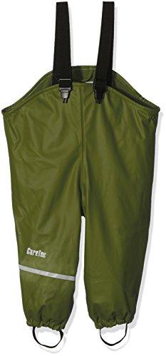 CareTec Kinder wasserdichte Regenlatzhose mit Fleecefutter (verschiedene Farben), Grün (Chive 996), 116