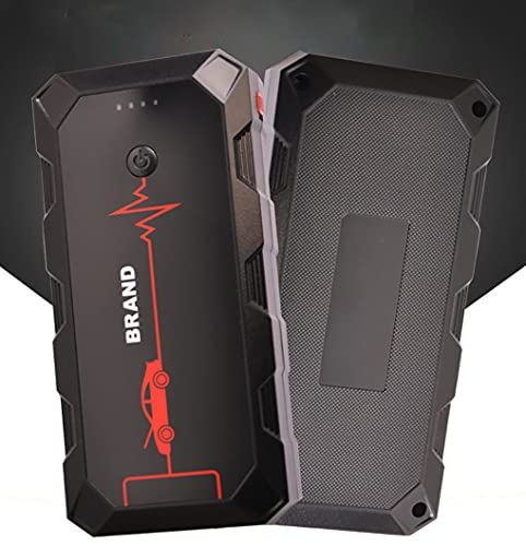 Riloer 30000mAh multifunktionales Smart Auto Batterie Starthilfepaket, Tragbarer Outdoor Notstarter Power Booster Smart Batterieladegerät für 12V Auto, Motorrad, Boot, Wohnmobil