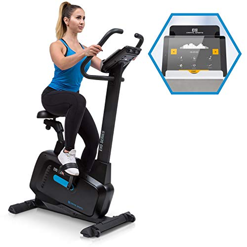 Capital Sports Evo Pro Cardio Bike - Bike w/Training Computer, Home Trainer, Bluetooth, 32 Levels, App Integration, 20kg Flywheel, Tablet Mount, Black