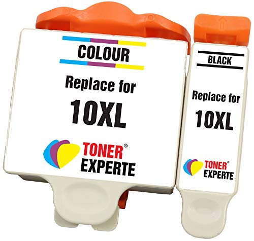 10XL (10B 10C) TONER EXPERTE® 2 XL Druckerpatronen kompatibel für Kodak ESP 3 5 7 9 3250 5000 5100 5210 5250 5300 5500 6100 6150 7200 7250 9200 9250 Hero 6.1 7.1 9.1   hohe Kapazität