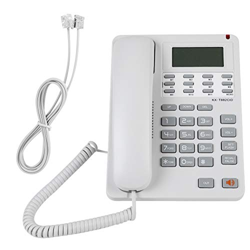 Tavolo Fisso Telefono, DTMF/FSK Call ID Display LCD Fisso Cavo, cancellazione del Rumore