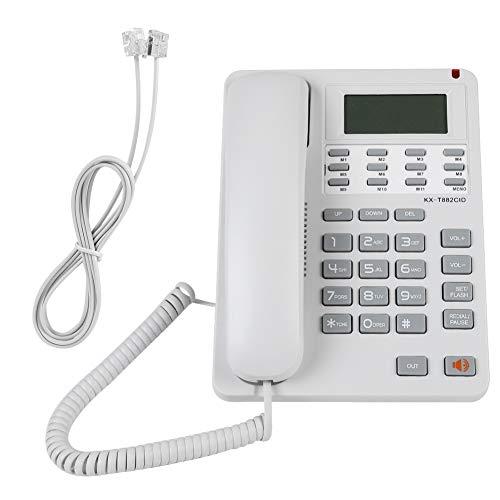 Teléfonos fijos de Escritorio, DTMF/FSK; Pantalla LCD con cancelación de Ruido y línea de Tierra con Cable