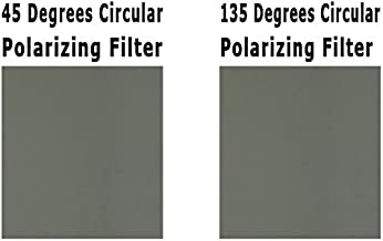 3D Circular Polarizer Pair of Sheets - Left and Right Eye