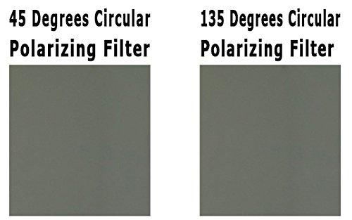3D Circular Polarizer Paar Blätter - Links und Rechts Auge