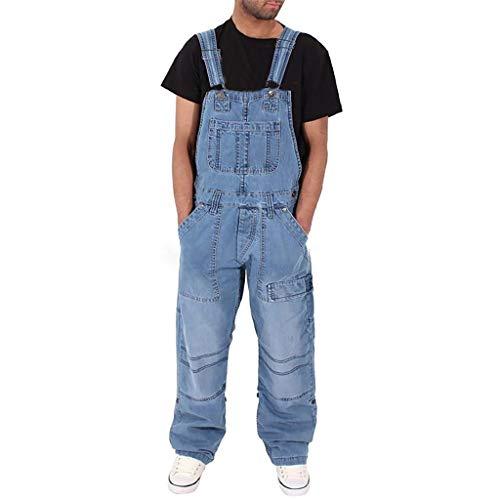 TPulling Wash Clothing Company Enge Biker-Latzhosen  Latzhose Skinny Fit Denim Bib Overalls Slim Leg Jeans Latz Lange Hose Herren Jumpsuit