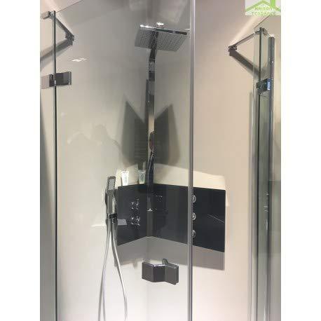 Novellini - Columna de ducha de esquina mecánica o termostática SINT, color negro