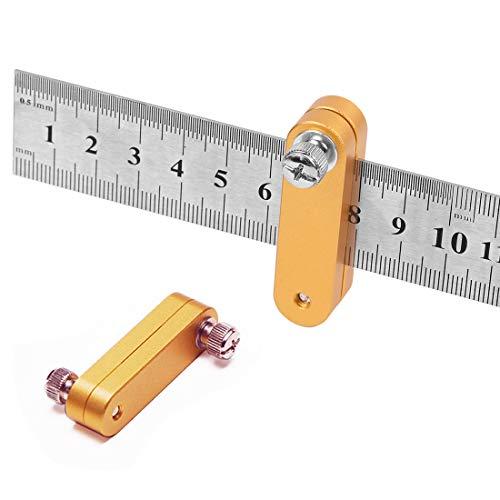 O-Kinee Posicionamiento Bloque Reglas de Acero Inoxidable Localizador Regla Carpintero Scriber de Herramientas Medición de Bricolaje Herramientas de Carpintería Con Regla de Acero de 300 mm (300mm)