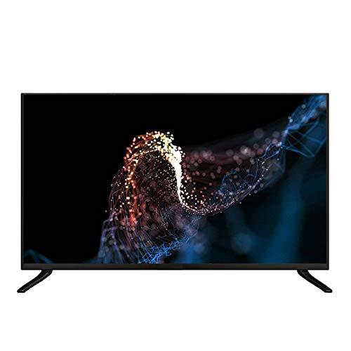 hanzeni Televisor LCD LED De 43 Pulgadas, Televisor De Pantalla Plana 4K HD, Marco De Metal Completo, Reducción De Ruido De Movimiento 3D, Vidrio Templado, Múltiples Interfaces
