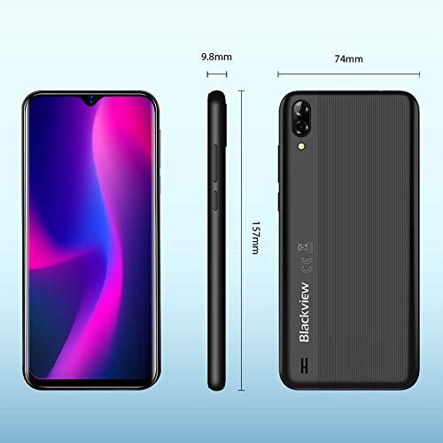 Blackview A60 Smartphone ohne Vertrag Günstig 15,49 cm (6,1 Zoll) HD+ Display 4080mAh Akku, 13MP+5MP Dual Kamera, 16GB ROM, 128 GB erweiterbar Dual SIM Android Einsteiger Handy - Schwarz - 7