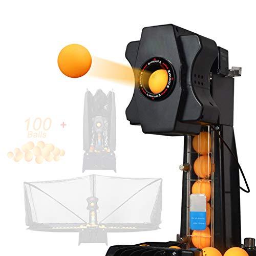 Stoge Tischtennis-Maschine Roboter Automatischer Ping-Pong-Maschine Wireless-Loop-Service Mit Steuerkasten Netzabdeckung Einstellbarer Schwenkbereich for Berufliche Bildung 2020