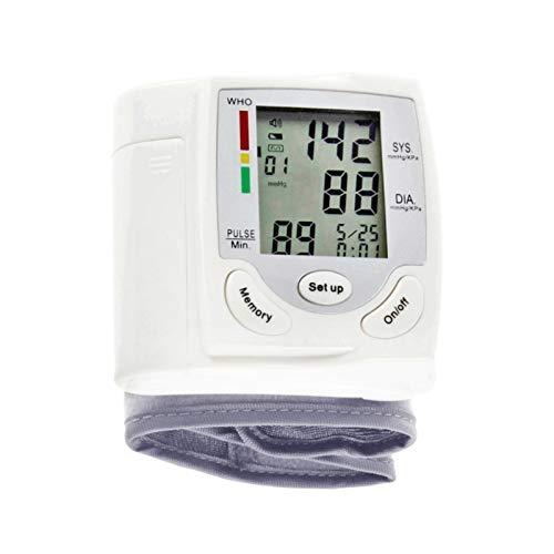 Automatic Digital LCD Display Wrist Blood Pressure Monitor Heart Beat Rate Pulse Meter Measure Tonometer Sphygmomanometer