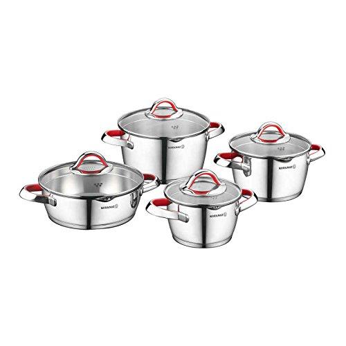 Korkmaz Batería de cocina de 8 piezas, color rojo A1974