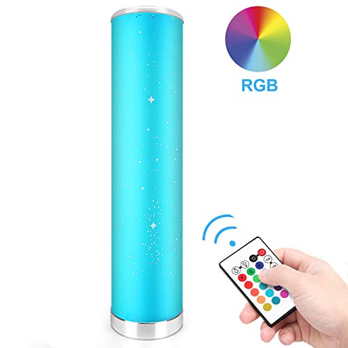 LED Stehlampe Dimmbar mit Fernbedienung für Wohnzimmer Farbwechsel Lichtsaeule LED RGB Stehleuchte Gaming Deko, 5 Watt, 54 CM Höhe