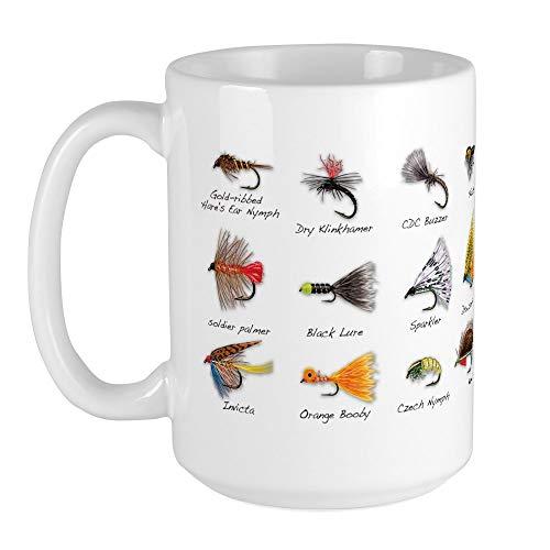 CafePress Flies_Mug Large Mug Coffee Mug, Large 15 oz. White Coffee Cup