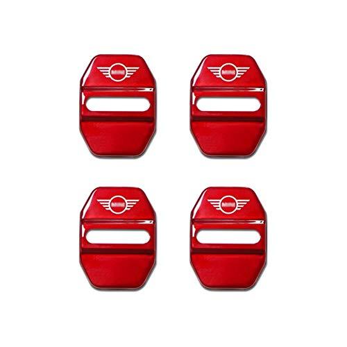 Auto parts For MINI For Cooper S F54 F55 F56 F57 F60 Car Styling Accessories Door Lock Striker Cover Sticker Proteccion Case Decoración (Color: 4 piezas)
