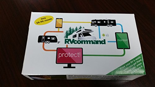 RV Command - Complete New RV GPS Tracking and Monitoring System for Travel Trailer, 5th Wheel, Motorhome, Camping Trailer Protection with Pet Temperature Monitoring