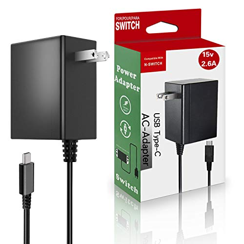 USB-C Charger for Nintendo Switch,Travel Wall Charger AC Adapter Power Supply Replacement for Nintendo Switch,Nintendo Switch Lite,Pro Controller,Nintendo Switch Dock,Support TV Mode[15V 2.6A]