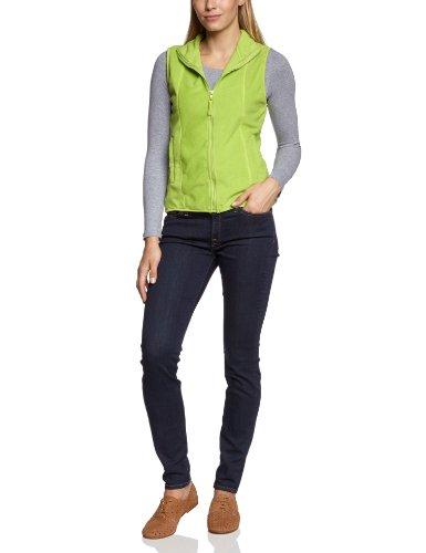 James & Nicholson Damen Girly Microfleece Vest Weste, Grün (grün lime-green), 38 (Herstellergröße: L)