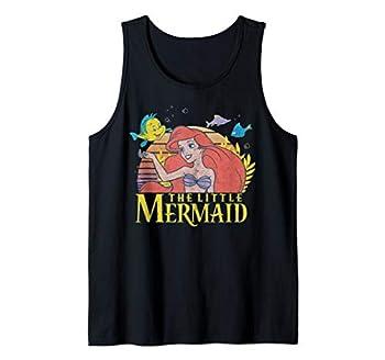 Disney The Little Mermaid Ariel And Flounder Sunset Portrait Tank Top
